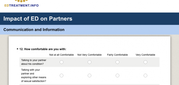 Survey for Partners of men with ED