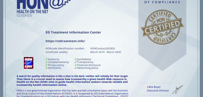 ED Treatment Information Center Receives HON Certification