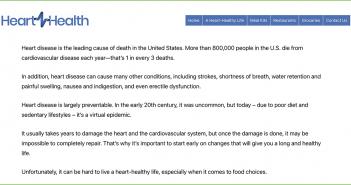 HeartHealth.info screen snapshot
